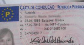 Водительские права в Португалии